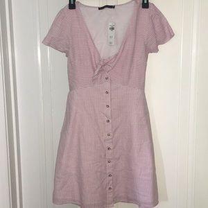 Striped Summer Button Dress